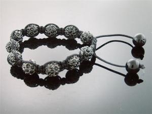 Big Black Bead CZ  Bracelet 10MM With Disco Ball