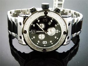 New Aqua Master Large Round 0.20CT Diamonds Watch Black