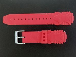 NEW! Aqua Master Plastic Sport Watch Band 17mm Wide RED