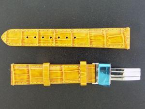 NEW AQUA MASTER ONE PIN 17 MM YELLOW COLOR WATCH BAND