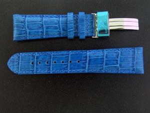 New Aqua Master Single pin leather band 22mm BLUE