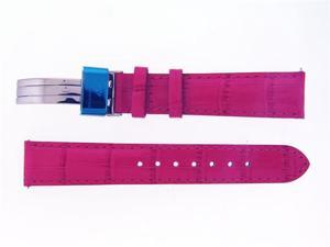 New Aqua Master Single pin leather band 18mm PINK