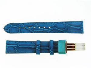 New Aqua Master Single pin leather band 18mm Blue