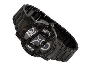 New Just Bling 0.20CT Diamond watch with Grill Black