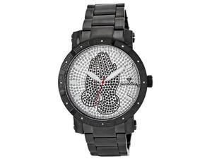 MEN'S JUST BLING SILVER JOJO 12 DIAMONDS WATCH