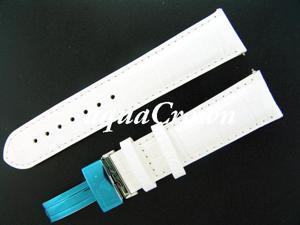New Aqua Master One pin leather White band 22mm