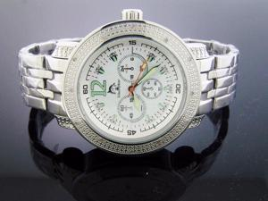 New Techno Master 12 Diamond Watch TM-2108 with SS Band