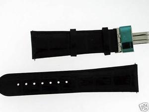 New Aqua Master Single pin leather band 24mm Black