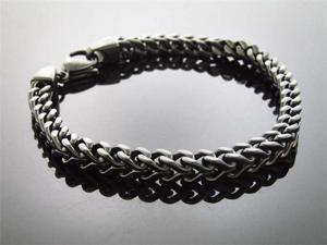 """Men's 6mm Franko Steelness steel 9"""" Black Bracelet"""