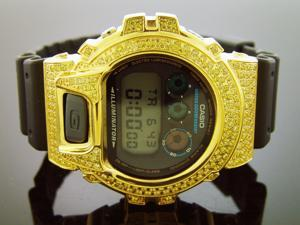 Casio g shock Men's Casio G Shock High quality CZ Yellow crystal Watch Yellow case black face