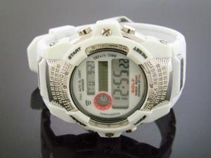 Men's Diamond Shock by King Master 12 diamonds Watch White color