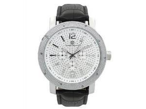 Men's Super Techno by Joe Rodeo 0.10CT Diamonds Watch M6030 Silver Face & Case