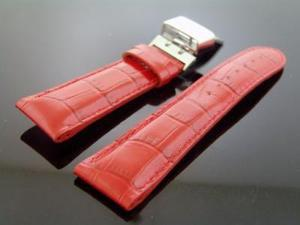 Aqua master 24mm Double pin Bubble loop watch Band RED Color