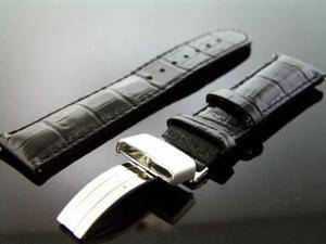 Aqua master 22mm Single pin Round watch Band Black Color
