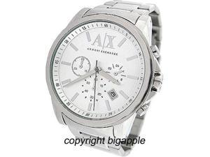 Armani AX Exchange Banks Chronograph Silver Dial Steel Mens Watch AX2058