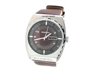 Diesel Time Frames Brown Leather Band Mens Watch DZ1182