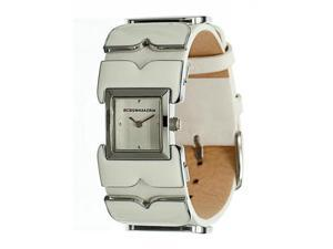BCBGMAXAZRIA Leather Collection Silver-Tone Dial Women's Watch #BG6397
