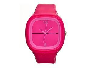 Flexi Raspberry Rubber Watch