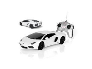 """Lamborghini Aventador RC Remote Control 9"""" 1:24 Scale Car White"""