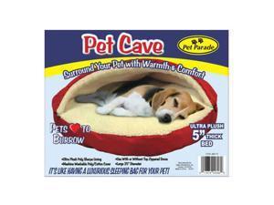 "Pet Parade 25"" Plush Sherpa Lined Pet Cave Sleeping Bag"
