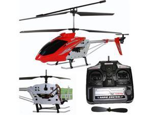 Syma S031G Jumbo Sized 3.5 Ch Metal Coaxial RC Radio Control Helicopter with Gyro - Assorted Orange or Red