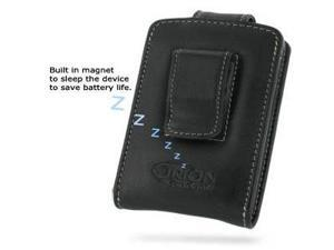 BlackBerry Curve 8310 Leather Vertical Pouch Type (Black)