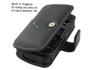 BlackBerry Curve 8350i Leather Book Case (Black)