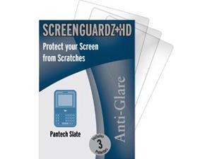 Pantech Slate C530 ScreenGuardz HD (Hard) Anti-Glare Screen Protectors (Pack of 3)