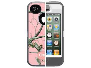 Apple iPhone 4/4S OtterBox Defender Realtree Series Case & Holster (Realtree Camo APC) (Pink)