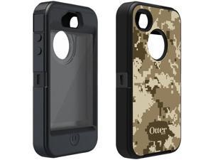 Apple iPhone 4/4S OtterBox Defender Military Style Camo Case & Holster (Desert Camo / Black)