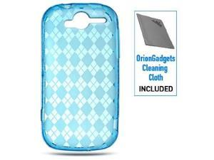 T-Mobile myTouch 4G Crystal Silicone Skin Case (Blue Checker)