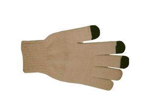 Touch Screen S.H.E. 4Life Warm Winter Gloves with Conductive Fingertips S4L-GLV-LTBROWN (Brown)