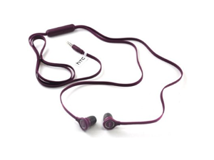 HTC One X AT&T RC E190 Wired Flat Cable 3.5mm Hands-Free Headsets Headphones (Purple)