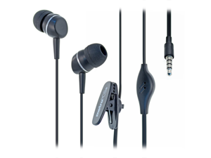 ZTE Groove 3.5mm In-Ear Stereo Hands-Free Headset (MetroPCS Brand) (Black)