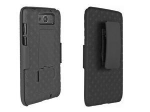 Motorola Droid Ultra Shell Case Holster Combo /w Kick Stand Belt Clip