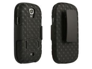 Samsung Galaxy Stratosphere 2 Shell Belt Clip Holster Combo /w Kick Stand - Verizon Original (Black)