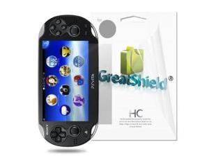 GreatShield Ultra Smooth Clear Screen Protector Film for Sony PlayStation Vita (Screen Only) (3 Pack)