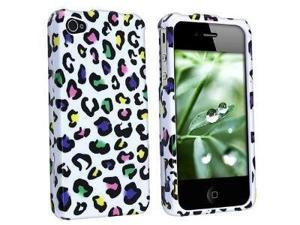 Fosmon Snap On Crystal Design Case for iPhone 4 / 4S (AT&T & Verizon) - Colorful Leopard