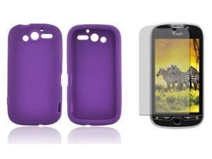 Fosmon Soft Silicone Skin Cover Case + LCD Screen Protector for HTC T-Mobile myTouch HD
