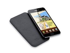 Samsung Galaxy Note i717 N7000 Genuine Leather Pouch - Navy
