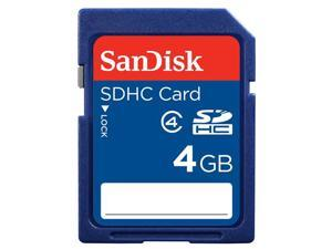 SanDisk 4GB SDHC Card Class 4 Secure Digital Flash Memory - Bulk Packaging