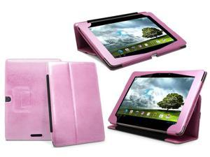 GreatShield Premium Leather Case for Asus Transformer Pad TF300 10.1 inch Tablet [Compatible with Keyboard Docking Station] (Pink)