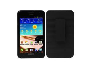 Fosmon Shell Holster Combo w/ Clip for Samsung Galaxy Note N7000 - Black