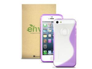 GreatShield Guardian S Series Slim-Fit TPU+PC Case for Apple iPhone 5/5S (S-Line Design, Clear/Purple)