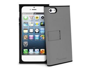GreatShield Hybrid PC+Silicone Protector Case w/ Stand for Apple iPhone 5/5S - Gray