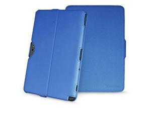 GreatShield VANTAGE Series Ultra-Slim Leather Folio Case w/ Stand for Samsung Galaxy Note 10.1 (Blue)