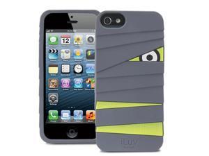 iLuv Mummy & Ninja Series Silicone Case for Apple iPhone 5 (Mummy) - Gray/Green