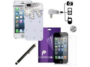 Fosmon GEM Series 3D Bling Crystal Design 6 in 1 Bundle for Apple iPhone 5