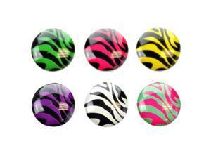 Fosmon 6 in 1 Zebra Pattern Home Button Decals for Apple iPad / iPad Mini / iPad 2 / iPhone 5 / 5S / 5C - Pink, Blue, Purple, ...