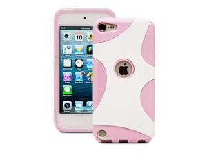 Fosmon HYBO Series TPU + PC Splash Design Case for Apple iPod Touch 5th Generation / Apple iPod Touch 5 - Pink TPU / White PC